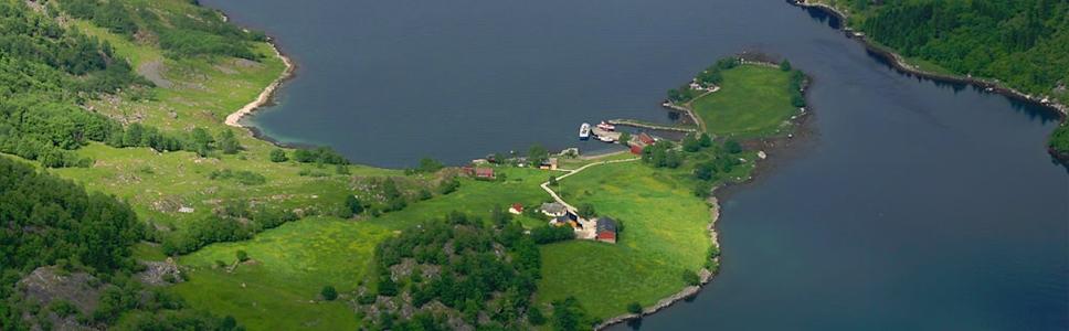 Findeni küla asub Sognefjordi suudmes